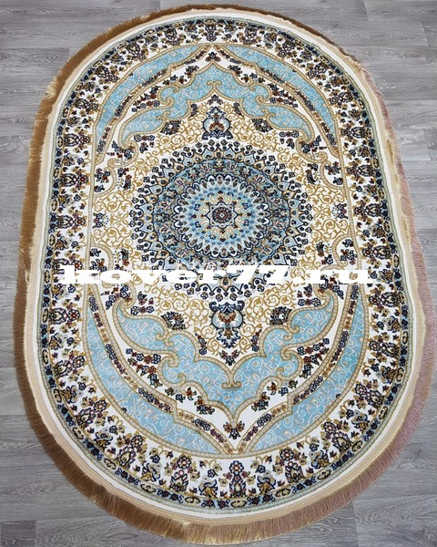 IHTISAM 35001 cream blue oval