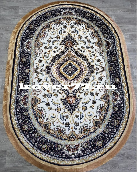 IHTISAM 35061 cream navy oval