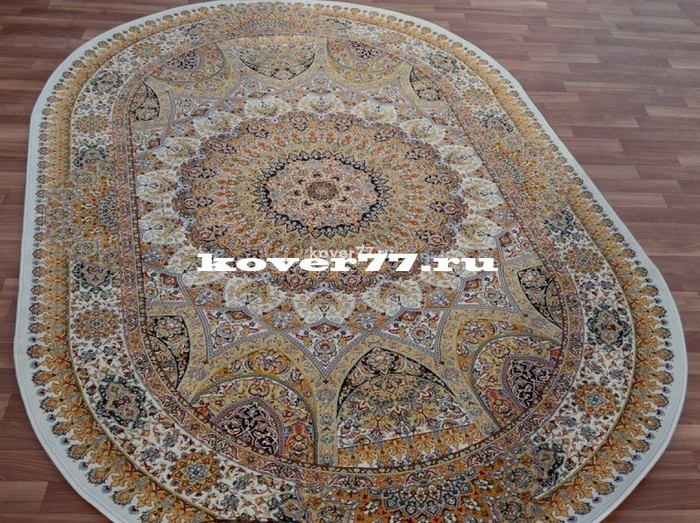 Abrishim 3 milyon (silk) 3809_cream_oval